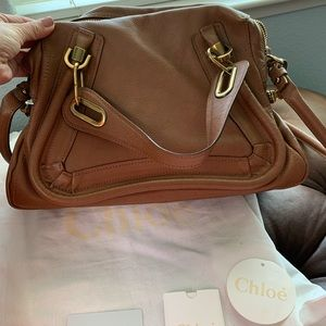 Good Condition Chloe Paraty in Golden Brown color